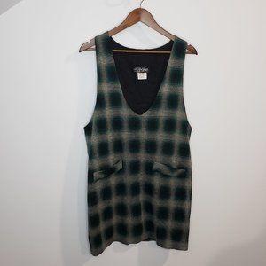 Vintage All That Jazz Green Plaid Mini Dress 11/12